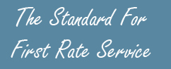 The Standard for First Rate Service